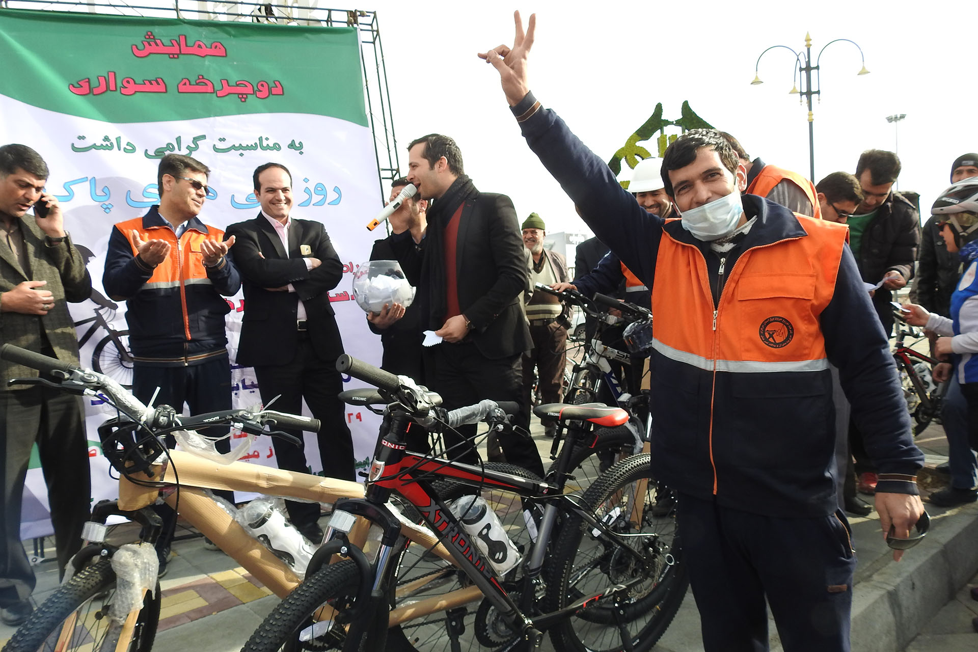 Donation of Bicycle During Clean Air Ceremony