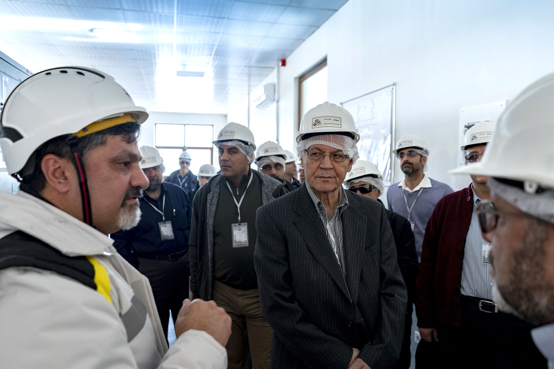 Electrical and Electronic Professors at the University of Tehran Visited Tarom (Siahpoush) Wind Farm